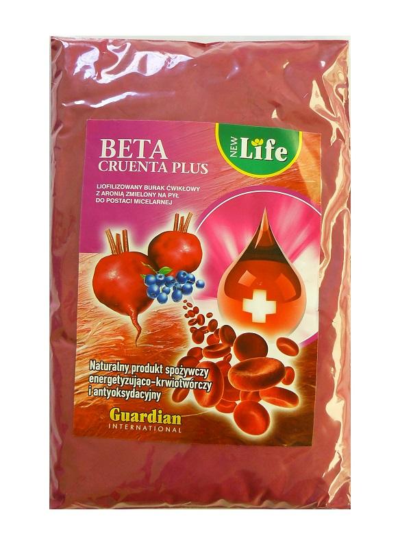 Beta Cruenta Plus Liofilizowany burak ćwikłowy Liofilizowana aronia
